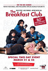 The Breakfast Club 30th Anniversary Movie Poster