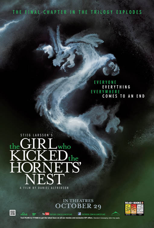 The Girl Who Kicked The Hornets' Nest Large Poster