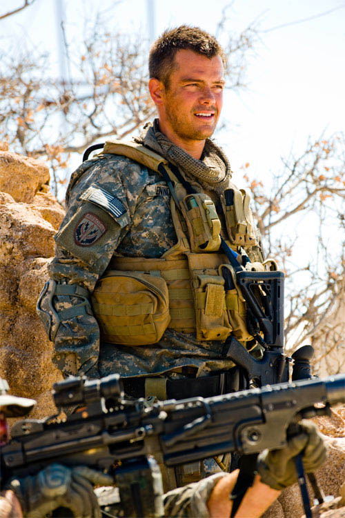Josh Duhamel on the set of Transformers: Revenge of the Fallen