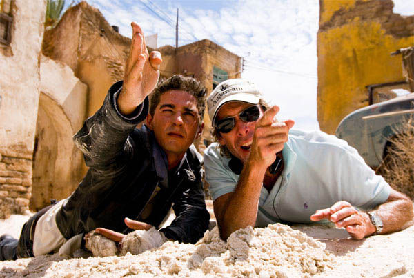 Michael Bay directs Shia LaBeouf in Transformers: Revenge of the Fallen