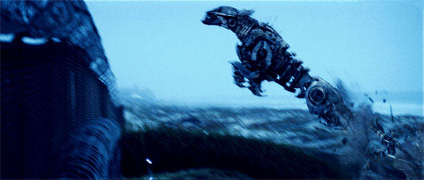 Ravage jumping out of the water in Transformers: Revenge of the Fallen