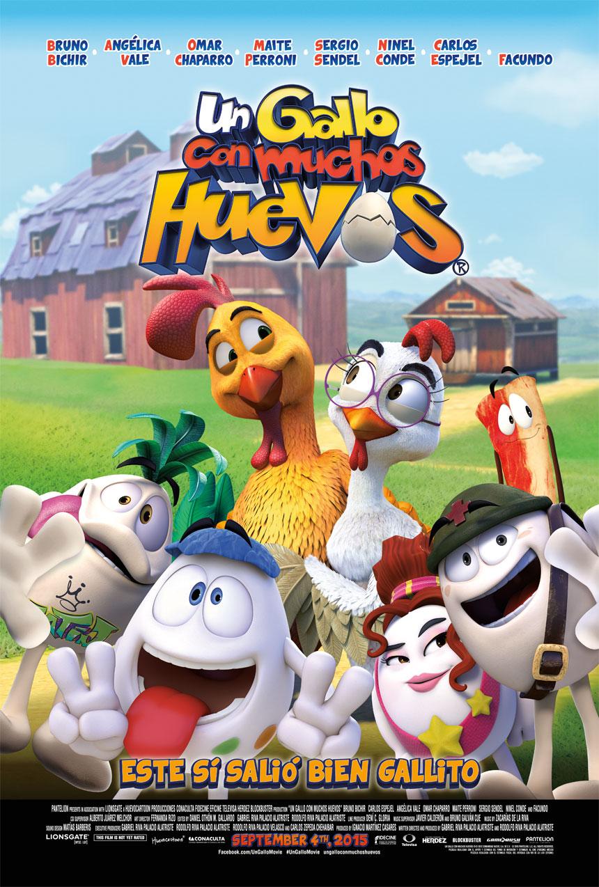 Un gallo con muchos huevos Large Poster