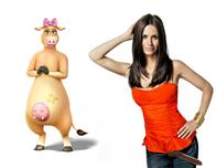 "Courteney Cox (pictured) plays Daisy, the sweet-as-sugar cow who joins the farm in the animated feature  ""Barnyard. "" Paramount Pictures presents in association with Nickelodeon Movies an O Entertainment production, a Steve Oedekerk film,   ""Barnyard."""