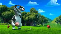 "In the animated feature film ""Barnyard"" the farmer thinks he's in charge, keeping all the animals safe and sound.  But when the farmer is out of sight, the lookout sheep shouts   ""Clear!""  and all of the barnyard animals spring up on two legs, walk, talk, watch TV, and orchestrate outrageous practical jokes.  Otis the cow (pictured, voice of Kevin James) is the biggest goof-off of all - until he's forced to take on responsibility for the other animals."