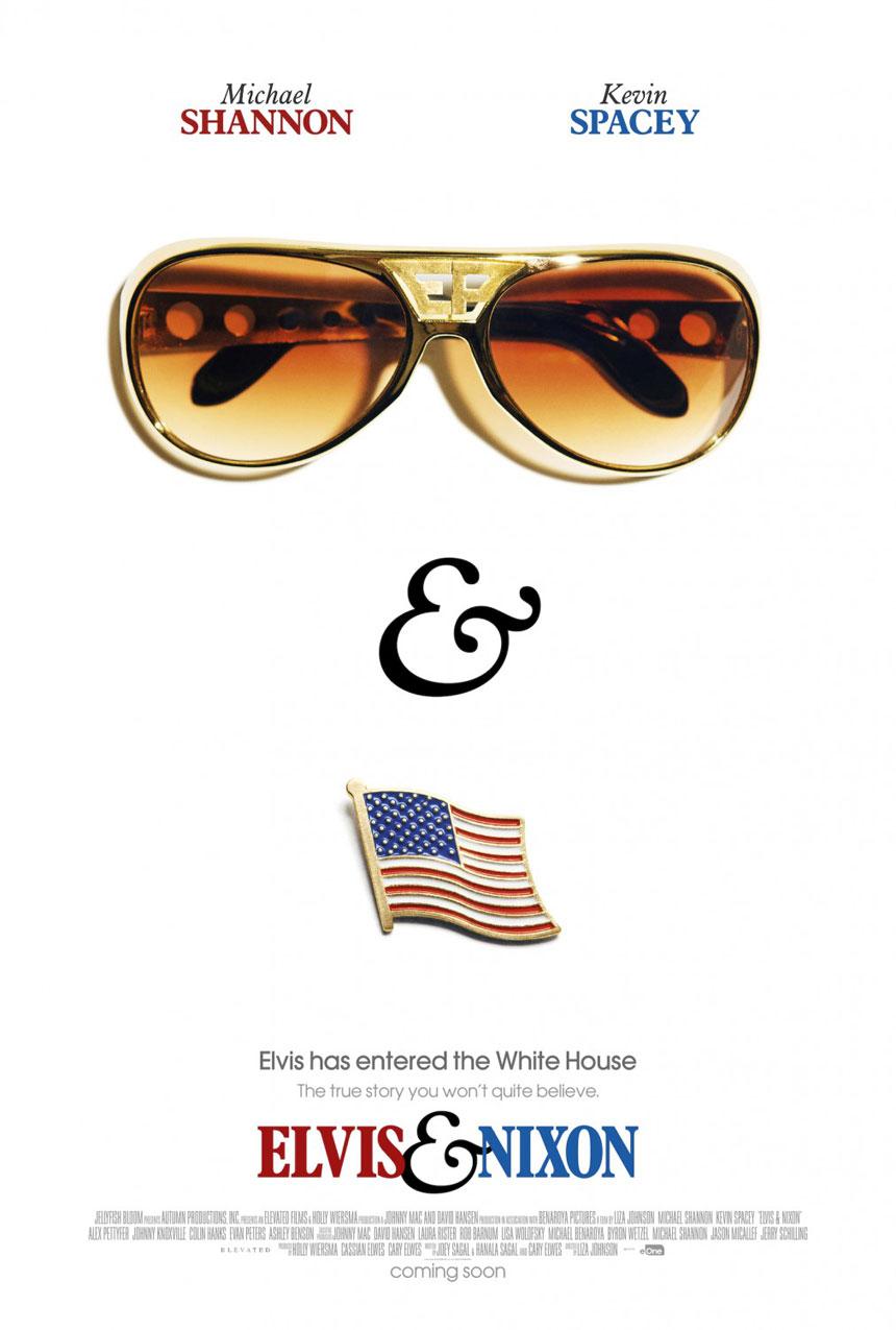 Elvis & Nixon Large Poster