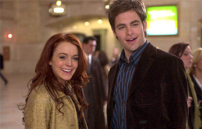 Ashley (Lindsay Lohan) and Jake (Chris Pine) switch fortunes and find romance, in JUST MY LUCK.  - Large