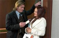 A successful executive woos Ashley Albright (Lindsay Lohan), in JUST MY LUCK.