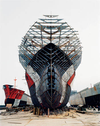 Shipyard at Qili Port, Zhejiang Province, China - Large