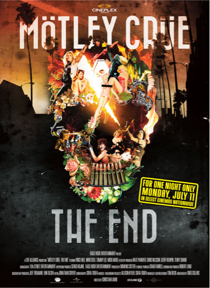 Mötley Crüe: The End Large Poster