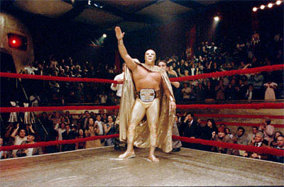 """In """"Nacho Libre"""" Ramses (Cesar Gonzalez 'Bronco,' pictured) is the top Lucha Libre wrestler.  Paramount Pictures presents a Nickelodeon Movies/Black & White production of a Jared Hess film,  """"Nacho Libre."""" - Large"""