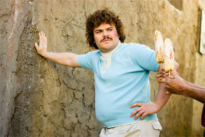 "Jack Black (pictured) stars as Ignacio (friends call him Nacho), a cook by day in a Mexican orphanage, who moonlights as a Lucha Libre wrestler to raise money for the orphans in   ""Nacho Libre"" a comedy from the creators of  ""Napoleon Dynamite"" and the writer of  ""The School of Rock."" - Large"