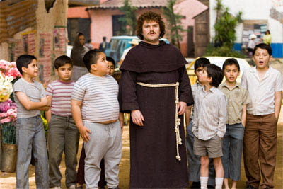"Jack Black (center) stars as Ignacio (friends call him Nacho), a cook by day in a Mexican orphanage, who moonlights as a Lucha Libre wrestler to raise money for the orphans in   ""Nacho Libre"" a comedy from the creators of  ""Napoleon Dynamite"" and the writer of  ""The School of Rock."" - Large"