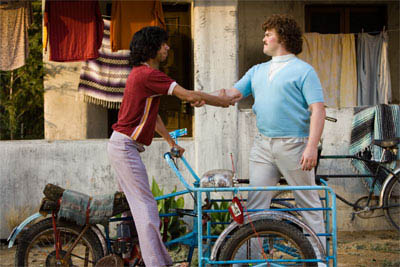 "In ""Nacho Libre"" Jack Black (right) stars as Ignacio (friends call him Nacho) a cook by day in a Mexican orphanage, who, with his partner, Esqueleto (Héctor Jiménez, left), moonlights as a Lucha Libre wrestler to raise money for the orphans. - Large"