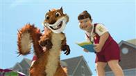 "RJ the raccoon (BRUCE WILLIS) tries to convince Stella the skunk (WANDA SYKES); the porcupine parents, Lou (EUGENE LEVY) and Penny (CATHERINE O'HARA), and their triplets, Quillo (MADISON DAVENPORT), Spike (SHANE BAUMEL) and Bucky (SAMI KIRKPATRICK); Verne the turtle (GARRY SHANDLING); and Ozzie the possum (WILLIAM SHATNER) that the world on the other side of the hedge is the ""gateway to the good life"" in DreamWorks Animation's computer-animated comedy OVER THE HEDGE."