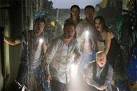 "(L-r) MIKE VOGEL as Christian, KURT RUSSELL as Robert Ramsey, EMMY ROSSUM as Jennifer Ramsey, JIMMY BENNETT as Conor James, JOSH LUCAS as Dylan Johns, JACINDA BARRETT as Maggie James, RICHARD DREYFUSS as Richard Nelson and MIA MAESTRO as Elena in Warner Bros. Pictures' and Virtual Studios' action adventure ""Poseidon."""