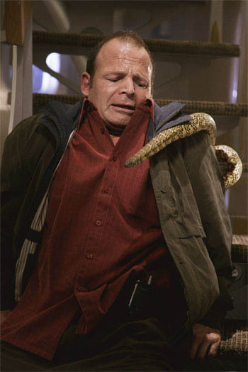 "Mark Houghton as ""John Saunders"" in New Line Cinema's intense action feature Snakes On A Plane. 