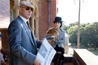 Lex Luthor (KEVIN SPACEY) and Kitty Kowolski (PARKER POSEY) in a scene from Warner Bros. Pictures' and Legendary Pictures' action adventure, <i>Superman Returns</i>.