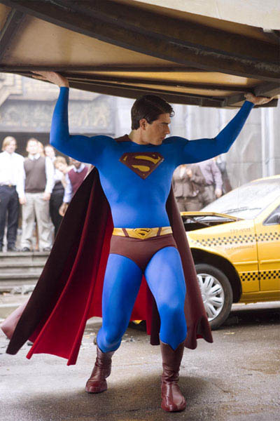 BRANDON ROUTH stars as Superman in Warner Bros. Pictures' and Legendary Pictures' action adventure, <i>Superman Returns</i>. - Large