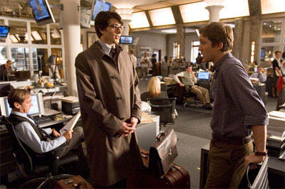 BRANDON ROUTH stars as Clark Kent/Superman and SAM HUNTINGTON portrays Jimmy Olsen in a scene from Warner Bros. Pictures' and Legendary Pictures' action adventure, <i>Superman Returns</i>. - Large