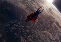Superman (BRANDON ROUTH) flies high above the earth in Warner Bros. Pictures' and Legendary Pictures' action adventure Superman Returns.