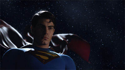 BRANDON ROUTH portrays Superman, who returns after years away to find the world needs him now more than ever, in Warner Bros. Pictures' and Legendary Pictures' action adventure Superman Returns.