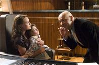 Lex Luthor (KEVIN SPACEY) menaces Lois Lane (KATE BOSWORTH) and her son Jason (TRISTAN LAKE LEABU) in Warner Bros. Pictures' and Legendary Pictures' action adventure Superman Returns.