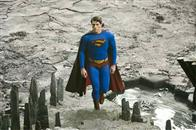 Superman (BRANDON ROUTH) investigates a strange new land formation in Warner Bros. Pictures' and Legendary Pictures' action adventure Superman Returns.
