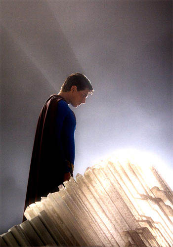 In the Fortress of Solitude, Superman (BRANDON ROUTH) feels most connected to the planet and the people from which he came in Warner Bros. Pictures' and Legendary Pictures' action adventure Superman Returns.
