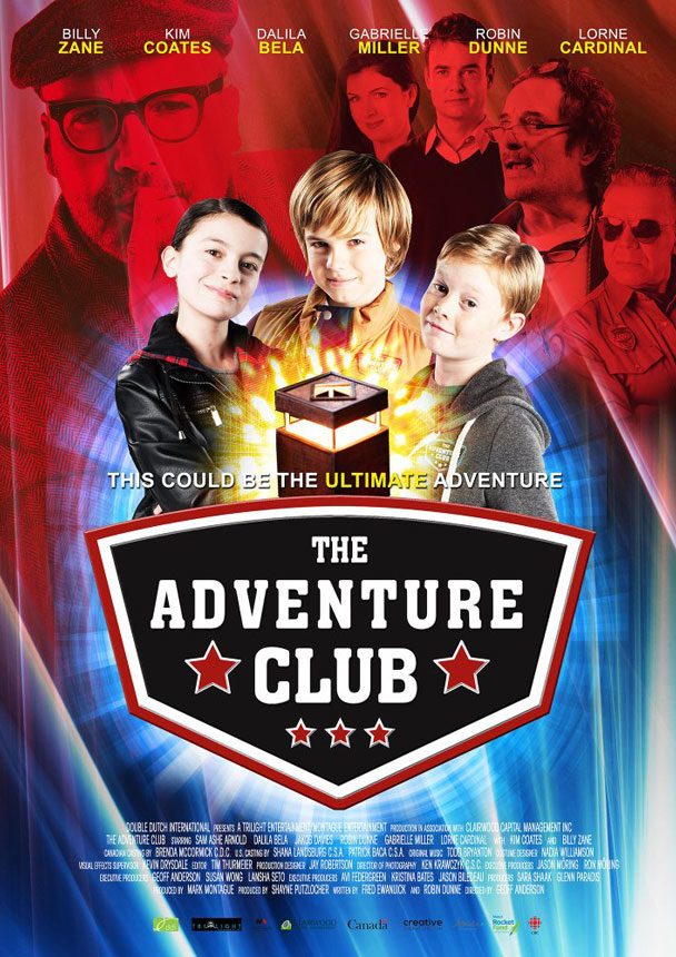 The adventure club poster for New kid movies coming out this weekend