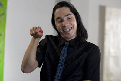 """Brooke's flamboyant co-worker, art gallery receptionist Christopher (JUSTIN LONG), in the romantic comedy """"The Break-Up"""".  - Large"""