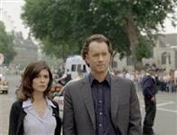 Audrey Tautou (l) and Tom Hanks star in Columbia Pictures' suspense thriller The Da Vinci Code.