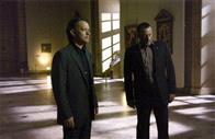 Tom Hanks (l) and Jean Reno star in Columbia Pictures' suspense thriller The Da Vinci Code.