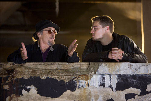 """Frank Costello (JACK NICHOLSON) and Billy Costigan (LEONARDO DiCAPRIO) get ready for a meeting with the Chinese Triad in Warner Bros. Pictures' crime drama """"The Departed."""" - Large"""