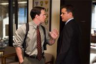 "Sergeant Dignam (MARK WAHLBERG) has a heated exchange with Colin Sullivan (MATT DAMON) over the identity of the mob infiltrator in Warner Bros. Pictures' crime drama ""The Departed."""