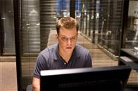 "Colin Sullivan (MATT DAMON) searches for the employment records of the undercover cop who has infiltrated Costello's gang in Warner Bros. Pictures' crime drama ""The Departed."""