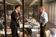 "Police detective Colin Sullivan (MATT DAMON) meets with Captain Queenan (MARTIN SHEEN) about the identity of the mob infiltrator in the State Police in Warner Bros. Pictures' crime drama ""The Departed."""