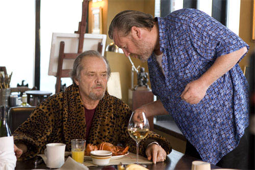 "French (RAY WINSTONE) reports on the status of a hit to his boss, Frank Costello (JACK NICHOLSON) in Warner Bros. Pictures' crime drama ""The Departed."" 