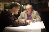 "Undercover cop Billy Costigan (LEONARDO DiCAPRIO) infiltrates Boston's Irish mob, led by Frank Costello (JACK NICHOLSON), in Warner Bros. Pictures' crime drama ""The Departed."""