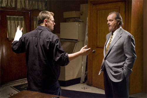 "Billy Costigan (LEONARDO DiCAPRIO) is interrogated by the powerful leader of Boston's Irish mob, Frank Costello (JACK NICHOLSON), in Warner Bros. Pictures' crime drama ""The Departed.""  - Large"