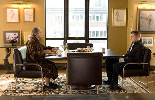 "Frank Costello (JACK NICHOLSON) talks business with his new employee, Billy Costigan (LEONARDO DiCAPRIO), in Warner Bros. Pictures' crime drama ""The Departed."" - Large"