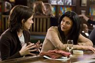 "SANDRA BULLOCK as Kate Forster and SHOHREH AGHDASHLOO as Anna in Warner Bros. Pictures' and Village Roadshow Pictures' romantic drama ""The Lake House,"" also starring Keanu Reeves."
