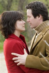 "SANDRA BULLOCK stars as Kate Forster and KEANU REEVES stars as Alex Wyler in Warner Bros. Pictures' and Village Roadshow Pictures' romantic drama ""The Lake House."""