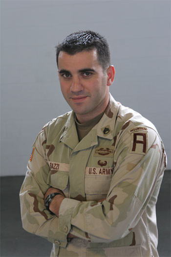 Sergeant Zach Bazzi. - Large
