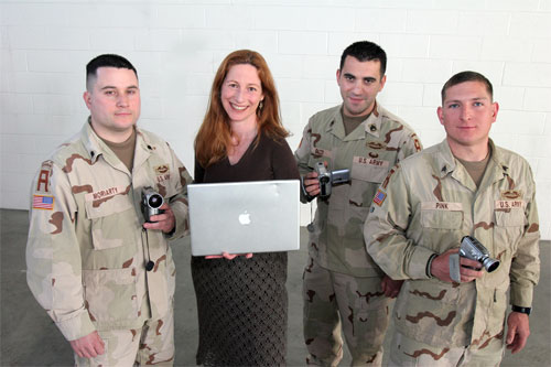 From left: Specialist Mike Moriarty, director Deborah Scranton, 