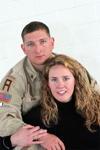 Sergeant Steve Pink and girlfriend Lindsay Coletti. - Large