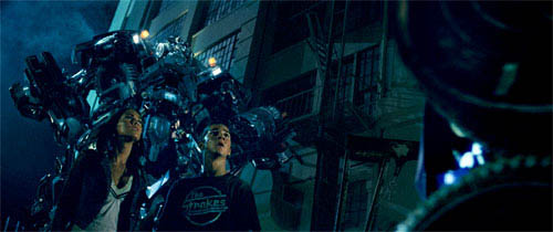 Shia LaBeouf and Megan Fox meet the Autobots