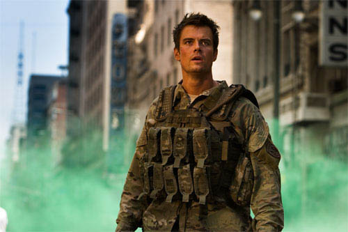 Josh Duhamel battles the Decepticons