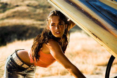Megan Fox knows how to get an engine running