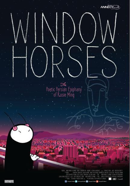 Window Horses Large Poster