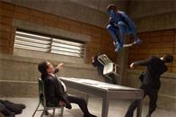 Mystique's (Rebecca Romijn) high-flying acrobatics shock her FBI captors.